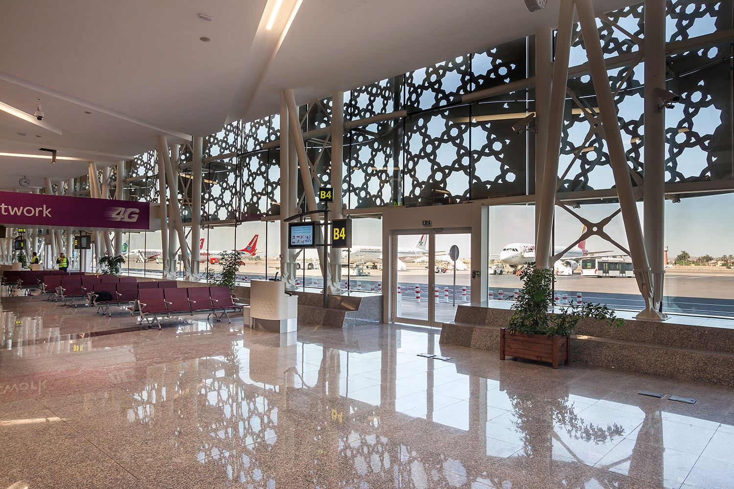 New terminal at Marrakech Airport in Morocco
